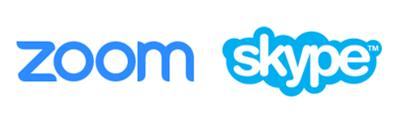 Zoomとスカイプのアイコン