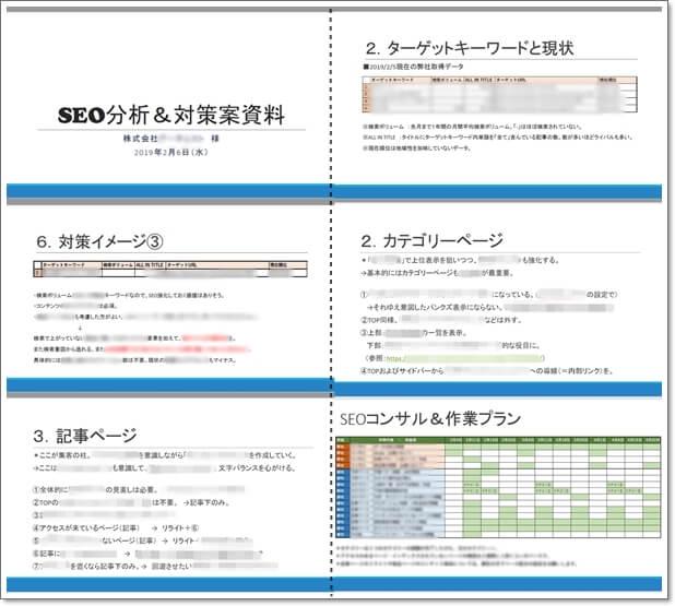 seo分析対策案資料の例